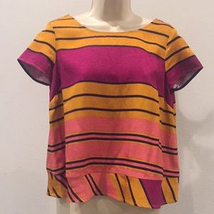 Striped Top by MAEVE-Size 0